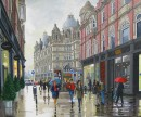 A glimpse of the market, Leeds, Acrylic, 56cm x 46cm - SOLD